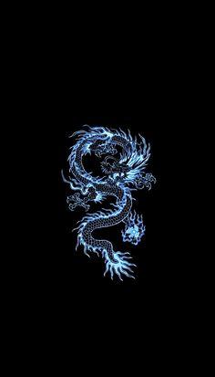 black-subzero dragon wallapaper astethic