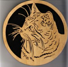 Scroll Saw Cat Hang-Up                                                                                                                                                      Plus