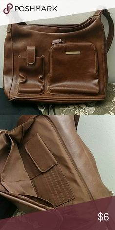 Brown Cherokee Brand Purse Leather like with lots of organization. In good condition. Bags Shoulder Bags