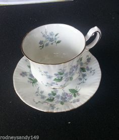 Forget Me Not  Flowers Paragon England China England  Cup & Saucer    #RoyalWindson