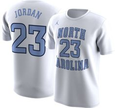 9deb87b84bc Jordan Men s North Carolina Tar Heels Michael Jordan  23 Future Star  Basketball White Jersey T-Shirt
