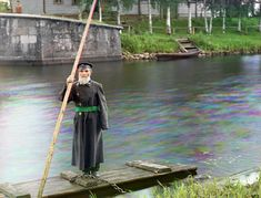 Pinkhus Karlinskii, 84 years old with 66 years of service. Supervisor of Chernigov floodgate, part of the Mariinskii Canal system, 1909. (Prokudin-Gorskii)