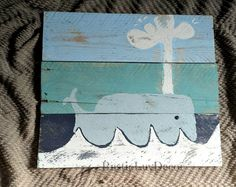 Whale Decor Reclaimed wood/ Whale Nursery/ by RusticLuvDecor