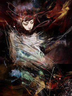 witchcraft and cigarettes by russ mills (byroglyphics) Portraits, Portrait Art, Artwork Prints, Cool Artwork, Dark Pictures, Dark Pics, Fantastic Art, Awesome, Ink Art