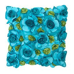 "Z Gallerie - Jardin Outdoor Pillow 18"" - Aquamarine"