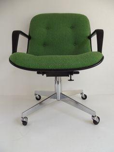 Vintage 1970u0027s Steelcase Swivel Tilt Office Chair Pollock Knoll Style