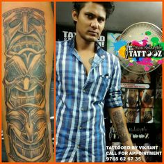 3 faces of life Placement :-forearm  Tattooed by Vikrant  call for Appointment 9765626735