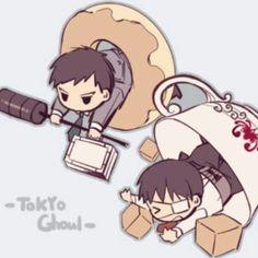Tokyo Ghoul Kaneki and Amon  Credits to the artist