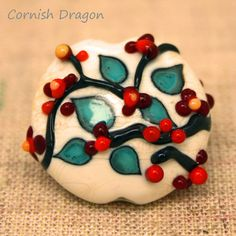 Autumn+Berries+Lampwork+Bead+by+CornishDragon+on+Etsy,+£9.00