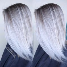 White platinum blonde balayage hair