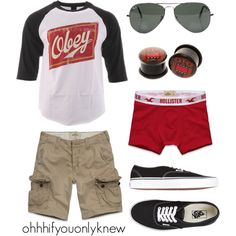 A fashion look from February 2013 featuring OBEY Clothing t-shirts, Vans sneakers and Ray-Ban sunglasses. Browse and shop related looks.