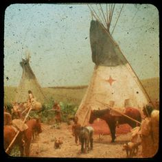 Native American diorama from the Field Museum, Chicago. Photo by Connie Toebe.