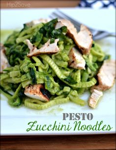 Pesto Zucchini Noodles by Hip2Save