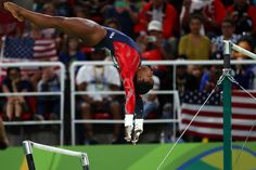 RIO DE JANEIRO 8/7/2016 The American gymnast Simone Biles performed on the uneven bars at the Olympics gymnastics arena. She won four gold medals at the Games. Chang W. Lee/The New York Times