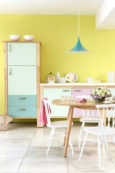 Kitchen - 'Lemon Mivvi', 'Cupboard Green', 'Spearmint' & 'Milk Thistle'