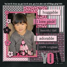 Sweet Pink & Black Girl's Page...