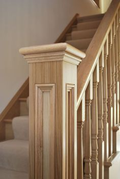 Timber Stairs Gallery - Range Of Timber Stairway Designs Wooden Staircase Railing, Stairs Balusters, Interior Stair Railing, Stair Railing Design, Home Stairs Design, Wooden Stairs, Articles En Bois, Stair Gallery, Building Stairs