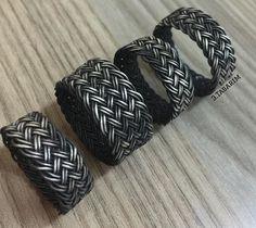 Üçüncü Tasarım & Kazaziye Diy Jewelry, Jewlery, Jewelry Making, Wire Rings, Weaving Patterns, Metal Bracelets, Head Wraps, Wire Wrapping, Knots