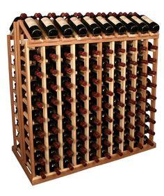 200 Bottle Commercial Aisle Display Wine Rack Ponderosa Pine