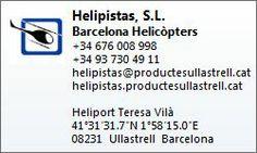 Contacte Barcelona Helicòpters - Helipistas S.L.