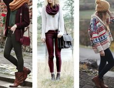 jeans burgundy bottoms sweater winter sweater bag jewelry scarf white black leather shoes shirt jacket fall outfits hat cherry white sweater purse cute pretty
