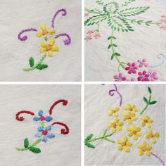 Charity shop vintage embroidered table cloth