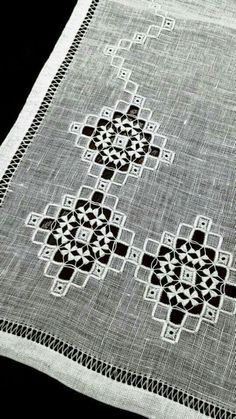 This Pin was discovered by Yvo Embroidery Works, Hardanger Embroidery, Embroidery Stitches, Embroidery Patterns, Hand Embroidery, Drawn Thread, Thread Work, Cut Work, Bargello