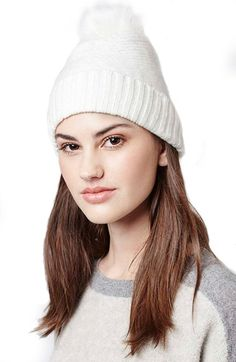 Topshop Faux Fur Beanie available at #Nordstrom