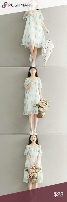 Organza Dress Summer Collection Style Maxi Dress  Brand new.   Sizes: M/L  Length: 98/100cm  Shoulder: 132/132cm  Bust: 108/108cm  Sleeve: 17/18cm  Hemline: 226/226cm Dresses Maxi