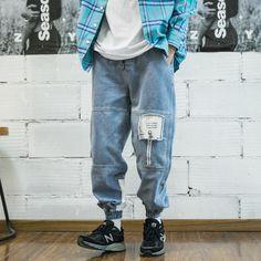 Denim Joggers, Cargo Jeans, Jogger Pants, Jeans Style, Distressed Denim, Streetwear Fashion, Hooded Sweatshirts, Mom Jeans, Fitness Models