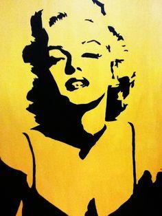 Marilyn Monroe stencil                                                                                                                                                                                 More