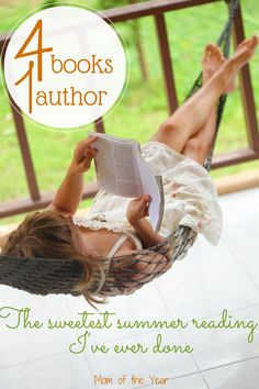 Nothing says summer like kicking back in the fresh air with a really good book. Last summer I discovered a treasure trove with this author, and it's the most fun summer of reading I've had! You've gotta check out all four titles!