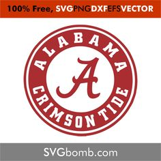 This file can be scaled to use with the Silhouette Cameo or Cricut, Brother Scan N Cut cutting machines. Perfect for Shirts Alabama Logo, Alabama Crimson Tide Logo, Crimson Tide Football, Alabama Football, American Football, Tide Free, Free Svg Cut Files, Silhouette Cameo Projects, Roll Tide
