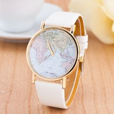 >> Click to Buy << Cindiry Women Men Unisex Fashion Vintage Casual World Map watch Analog Quartz Wrist Watch for Children Adults Gift S0V35 P0.21 #Affiliate