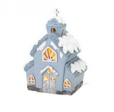 Snowbuddies Light-Up Church | Quaint church is the very picture of winter-time charm, with its cozy knitted roof and warm light pouring through its cutout windows. | NestLearning.com