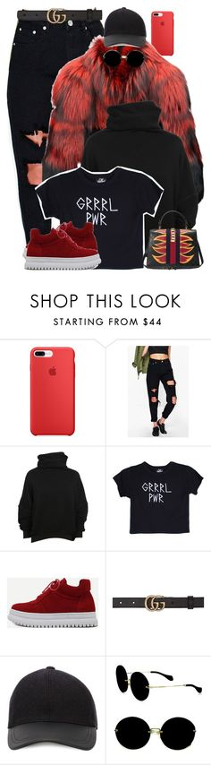 """Untitled #1862"" by i-am-leia ❤ liked on Polyvore featuring Boohoo, Unravel, Valfré, WithChic, Gucci, Canali and Miu Miu"