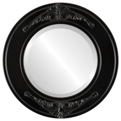 The Oval And Round Mirror Store Ramino Framed Round Mirror in Matte Black, 23 Round Wall Mirror, Wall Mounted Mirror, Beveled Mirror, Round Mirrors, Vanity Mirrors, Framed Mirrors, Mirror Mirror, Fake Plants Decor, Antique Vanity