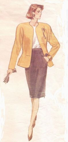 80s Vogue American Designer Sewing Pattern 2355 by CloesCloset, $15.00