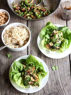 Spring Veggie Asian Lettuce Wraps