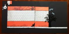 Halloween layout using CTMH papers
