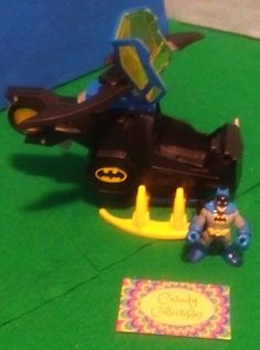 Fisher Price Imaginext DC Super Friends 2012 Batcopter & Batman Youth Ages 3-8 #FisherPrice