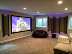 theatre room colours are good entertainment room | House | Pinterest ...