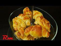 Εύκολα κρουασάν (Easy homemade croissants) - YouTube Greek Pastries, Homemade Croissants, Food Videos, French Toast, Breakfast, Easy, Recipes, Tarts, Brot