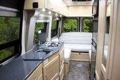 Pleasure-Way Industries: The Mercedes Plateau Class B Motorhome. Like the open feel, windows all around