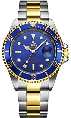 577fb30a23a Amazon.com  BINLUN 18K Gold Plated Automatic Wrist Watches for Men Luxury  Men s Dress Watch  Watches