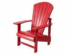 Bay Isle Home Trinidad Upright Adirondack Chair Color: Red Recycled Plastic Adirondack Chairs, Polywood Adirondack Chairs, Adirondack Chairs For Sale, Outdoor Chairs, Outdoor Decor, Garden Furniture, Outdoor Furniture
