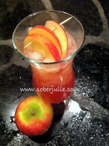 Marvelous Mocktails ~ Red Apple Delight non-alcoholic drinks recipe #Drinks #Mocktails #Recipe http://SoberJulie.com