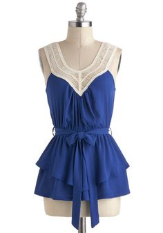 Tangled Up In Cobalt Blue Top, #ModCloth love this $34.99