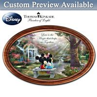 123142001 - Disney The Magic Of Love Collector Plate With 2 N…