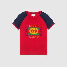 96fc1f8b4 Gucci print cotton t-shirt Mural Tattoo, Gucci Men, Gucci Gucci, Vintage
